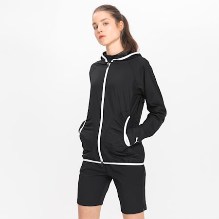 Zephyr Damen Golf Jacke mit Kapuze, Puma Black, small