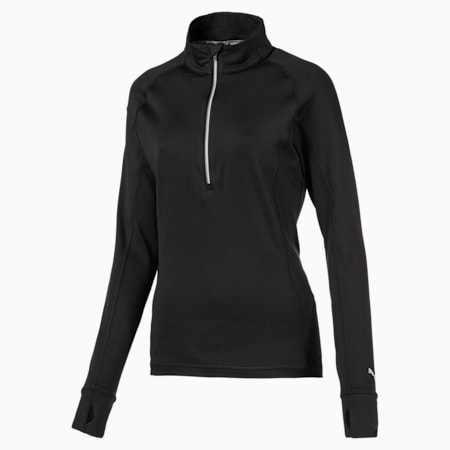 Rotation 1/4 Zip Women's Golf Pullover, Puma Black, small