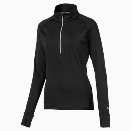 Rotation Quarter-Zip Women's Golf Pullover, Puma Black, small-GBR