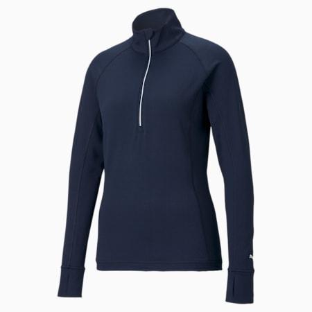 Pullover da golf con zip a 1/4 Rotation donna, Navy Blazer, small