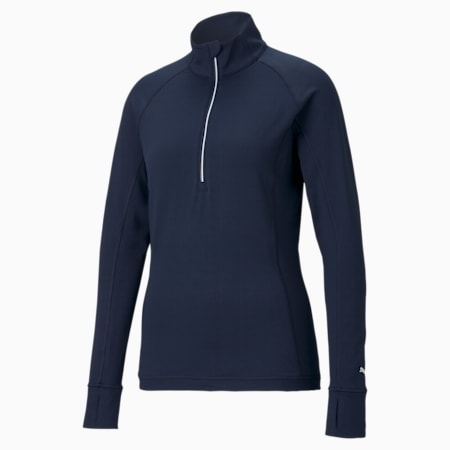 Rotation Quarter-Zip Women's Golf Pullover, Navy Blazer, small