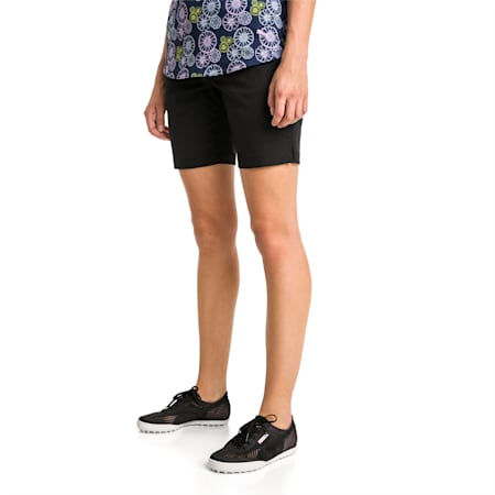 Pounce Bermuda Women's Golf Shorts, Puma Black, small