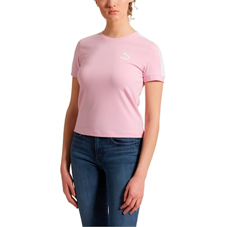 Classics Women's Tight T7 Tee, Pale Pink, small