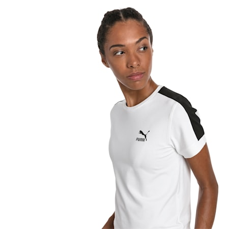 Classics Tight T7 Women's Tee, Puma White-black, small-SEA
