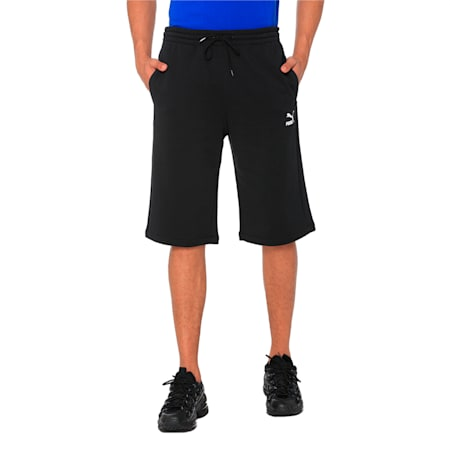 "Classics Logo 12"" Men's Shorts, Cotton Black, small-IND"