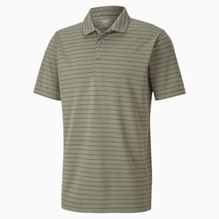 Rotation Stripe Men's Golf Polo, Deep Lichen Green, small