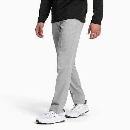 Meskie dzianinowe spodnie golfowe Jackpot z 5 kieszeniami, Quarry, small