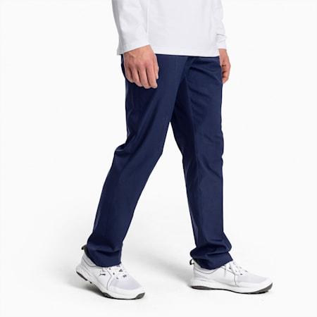 Jackpot Woven 5 Pocket Men's Golf Pants, Peacoat, small