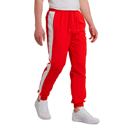 Iconic T7 Track Pants Woven, High Risk Red, small