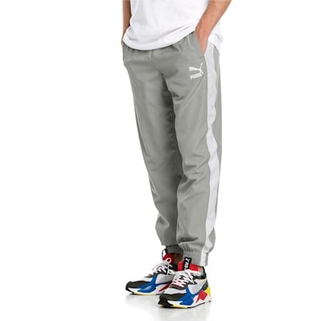 Iconic T7 Woven Men's Sweatpants, Limestone, small-IND