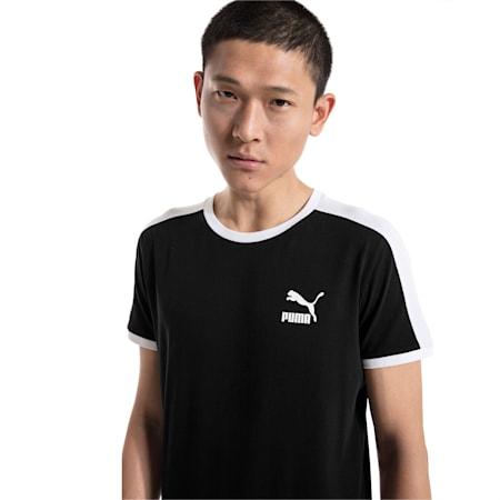 Iconic T7 Slim Men's T-Shirt, Cotton Black, small-IND