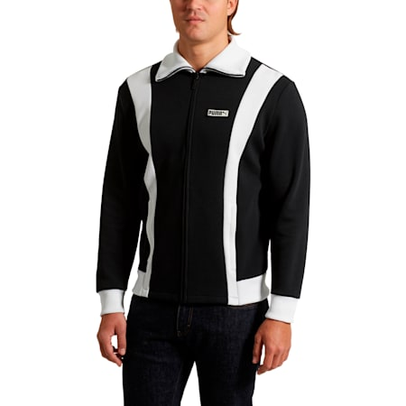 Iconic T7 Spezial Men's Track Jacket, Cotton Black, small