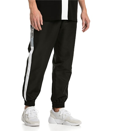 XTG Woven Men's Track Pants, Puma Black-Puma white, small-IND