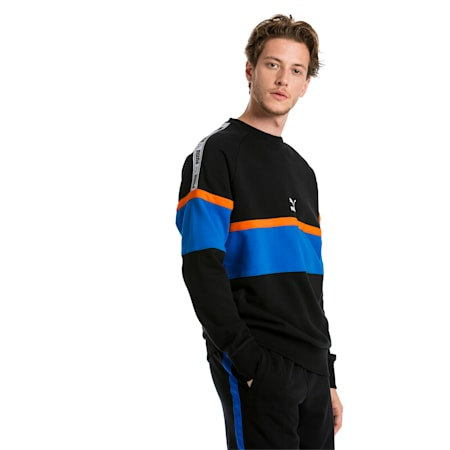 XTG Crew Neck Men's Pullover, Cotton Black, small-SEA