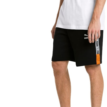 "XTG Knitted Men's 8"" Shorts, Cotton Black, small-SEA"