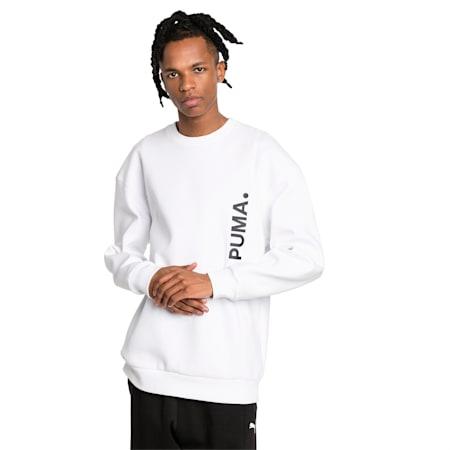 Epoch Men's Sweater, Puma White, small-SEA