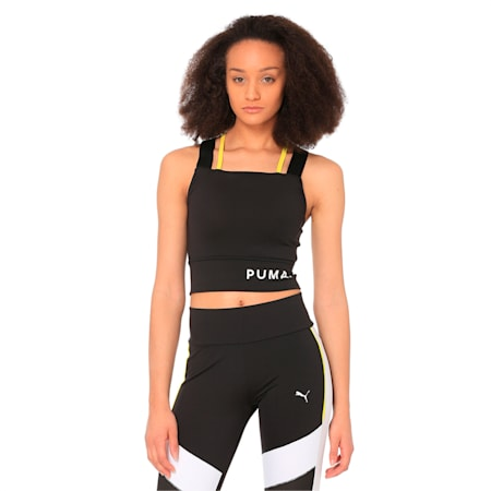Chase Women's Crop Top, Puma Black, small-IND