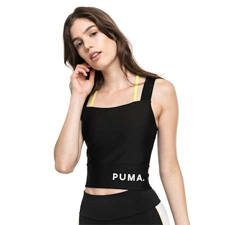 Chase Women's Crop Top, Puma Black, small-SEA