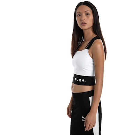 Chase Women's Crop Top, Puma White, small