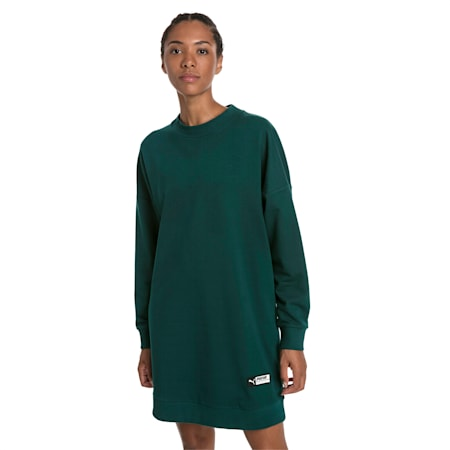 Trailblazer Long Crew Neck Women's Pullover, Ponderosa Pine, small-SEA