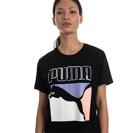 Graphics Women's Tee, Cotton Black, small-SEA