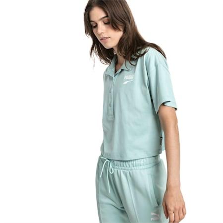 Downtown Women's Polo Shirt, Aquifer, small-SEA