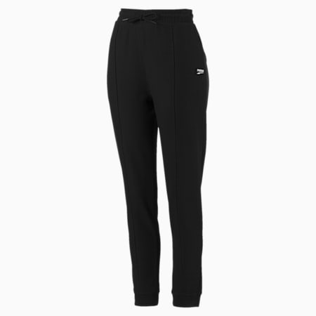 Downtown Tapered Women's Sweatpants, Puma Black, small-SEA