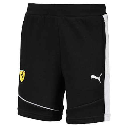 Ferrari Knitted Kids' Shorts, Puma Black, small-SEA