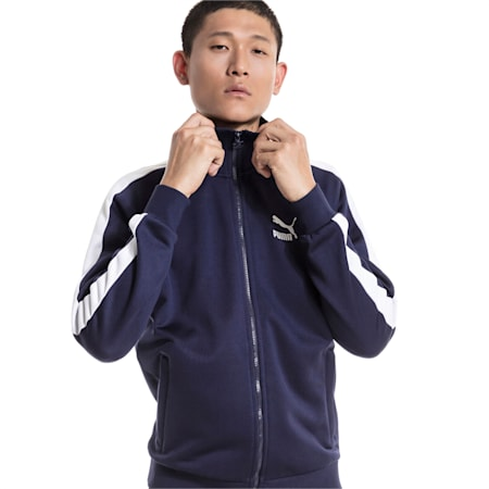 Iconic T7 PT Men's Track Jacket, Peacoat, small-IND