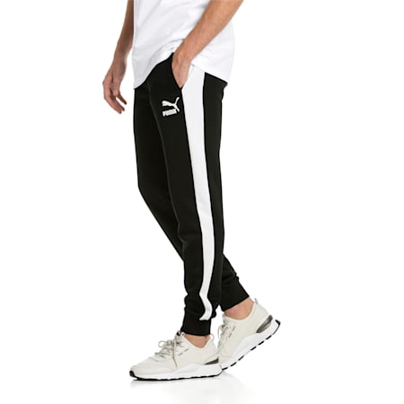 Iconic T7 Knitted Men's Sweatpants, Puma Black, small-SEA