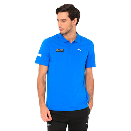 MAPM2 Men's Polo Tee, Indigo Bunting Heather, small-IND