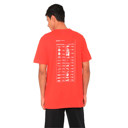 Graphic Multiple Logo T-Shirt, High Risk Red, small-IND