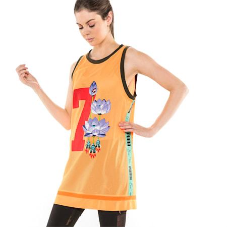 PUMA x SUE TSAI Women's Dress, Orange Pop, small-SEA