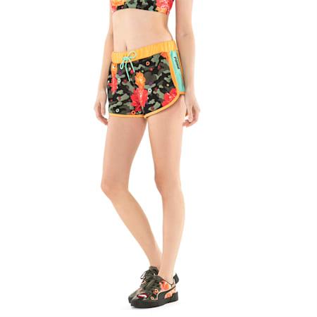 PUMA x SUE TSAI Knitted Women's Shorts, Puma Black- AOP, small-SEA
