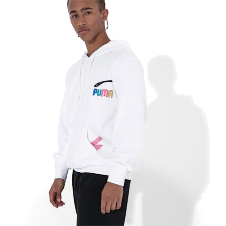 PUMA x BRADLEY THEODORE Men's Hoodie, Puma White, small-SEA