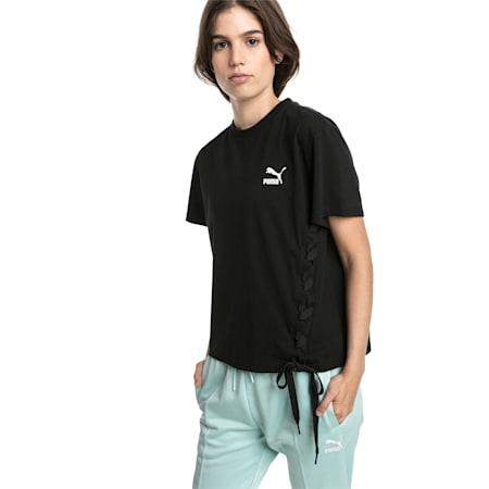 Crush Short Sleeve Women's Tee, Puma Black, small-SEA