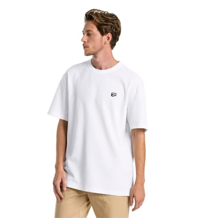 Downtown Men's Tee, Puma White, small-SEA