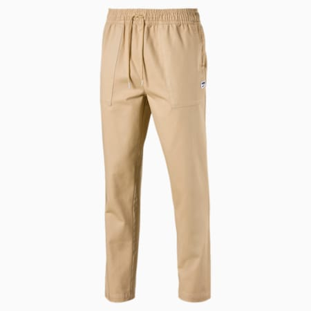 Downtown Twill Knitted Men's Sweatpants, Taos Taupe, small-SEA