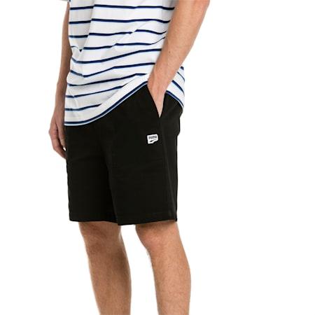 "Downtown 8"" Men's Sweat Shorts, Cotton Black, small-SEA"