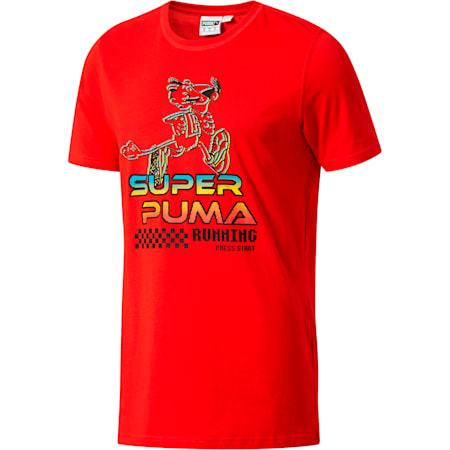 SUPER PUMA Play Men's Tee, High Risk Red, small