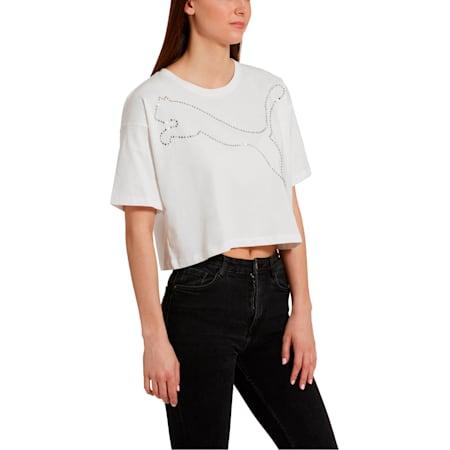 Camiseta PUMA x THE KOOPLES para mujer, Puma White, pequeño