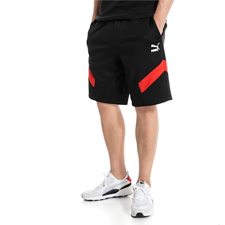 """Iconic MCS Knitted 10"""" Men's Shorts, Puma Black, small-IND"""