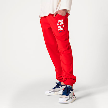 PUMA x ADER ERROR Knitted Sweatpants, Puma Red, small-SEA