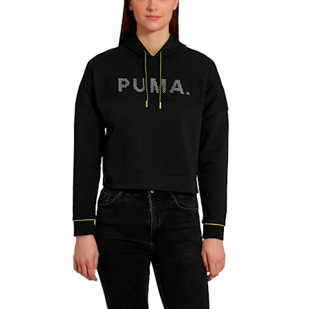 Chase Women's Hoodie, Cotton Black, small