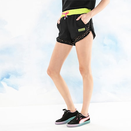 PUMA x SOPHIA WEBSTER Women's Shorts, Puma Black, small-SEA