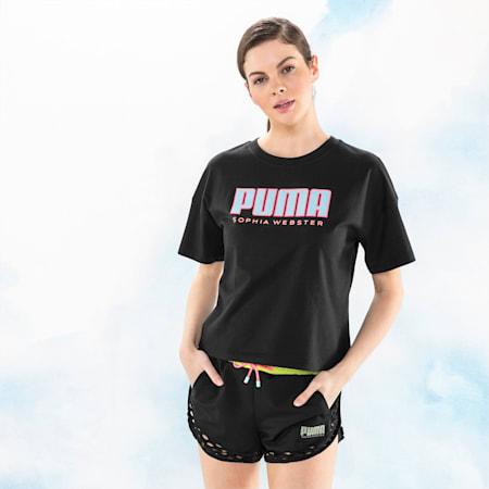 PUMA x SOPHIA WEBSTER Women's Tee, Puma Black, small-SEA