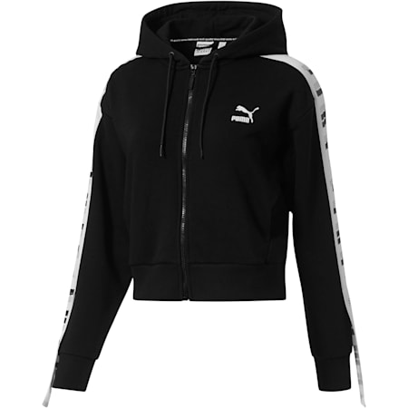 Revolt Full-Zip Hoodie Terry, Cotton Black, small