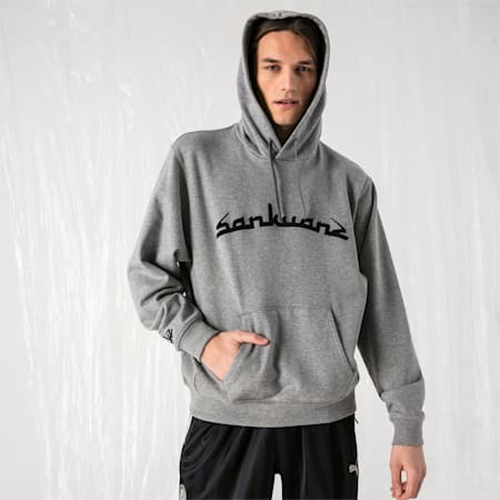 PUMA x SANKUANZ UNISEX HOODIE, Medium Gray Heather, small-JPN