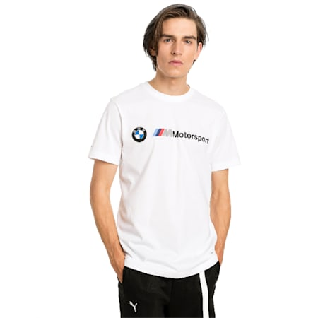 BMW M Motorsport Logo Men's Tee, Puma White, small-SEA