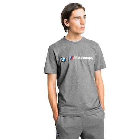 BMW M Motorsport Logo Men's Tee, Medium Gray Heather, small-IND
